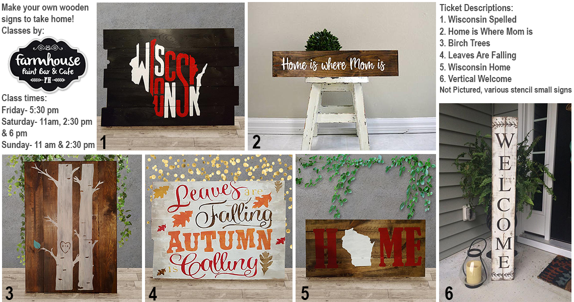Craft Your Own Wooden Painted Sign With Classes Led By. The Farmhouse Paint  Bar U0026 Cafe In The Craft Room.